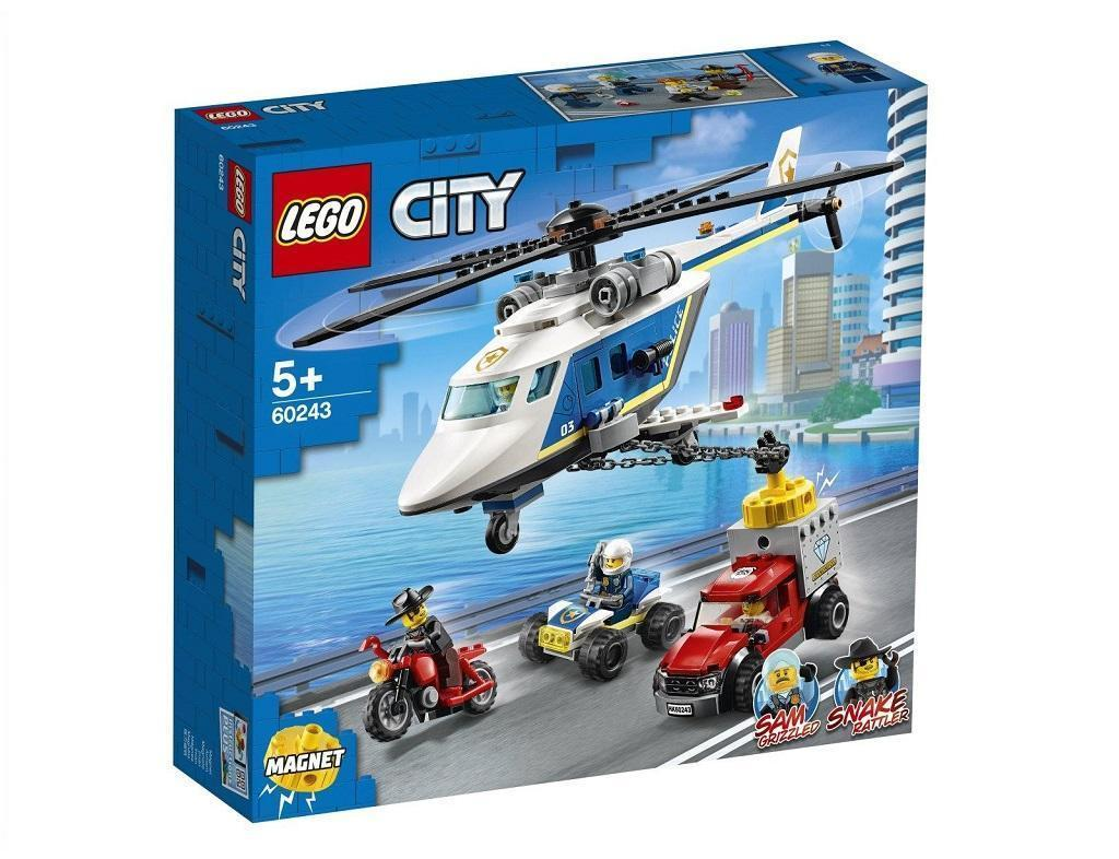 LEGO City 60243 Pregon s policijskim helikopterjem