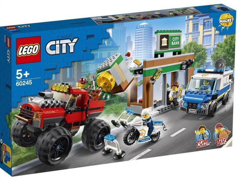 LEGO City 60245 Rop banke s pošastnim tovornjakom