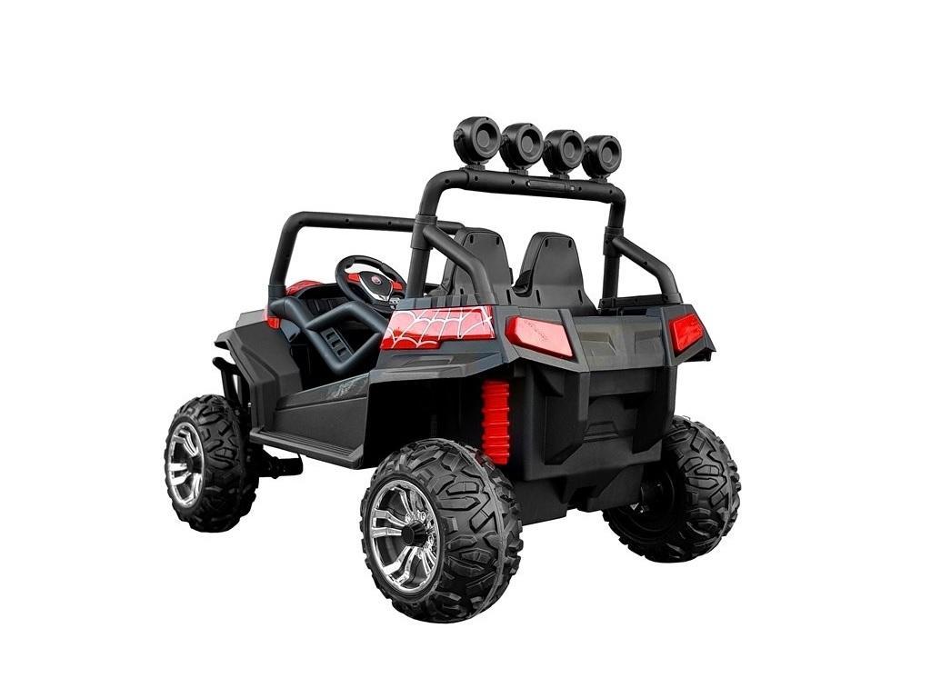 Avto na akumulator Buggy rdeč spider