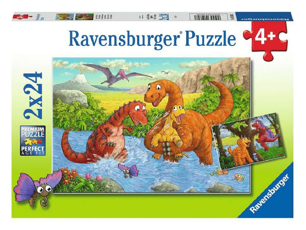 Sestavljanka Družina dinozavrov se igra 2x24d