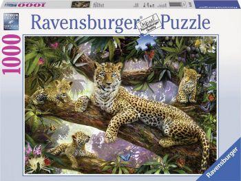 Sestavljanka Družina leopardov 1000 delna
