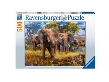Sestavljanka Družina slonov 500 delna