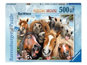 sestavljanka konji selfie