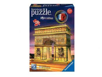 Sestavljanka 3D Arc de Triomphe slavolok zmage ponoči eigrače