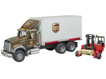 Bruder igrače 02828 Mack kamion za transport UPS