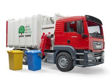 Bruder Kamion MAN TGS Hecklader Müll-LKW 03761