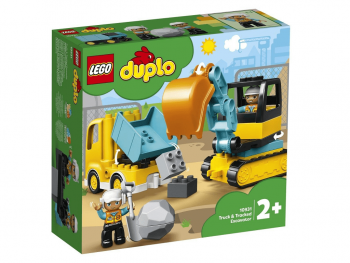 Lego Duplo Tovornjak in bager na gosenicah 10931