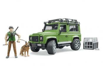 Bruder Land Rover z lovcem in psom 02587