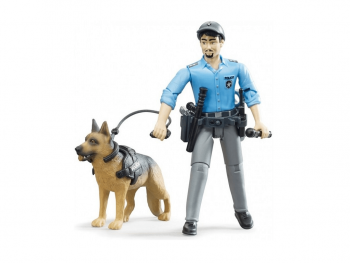 Bruder Policaj s policijskim psom in dodatki 62150