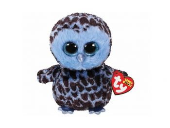 Plišaste igrače Ty Sova modra 24 cm