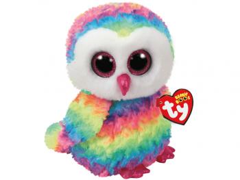 Plišaste igrače Ty Sova večbarvna 24 cm
