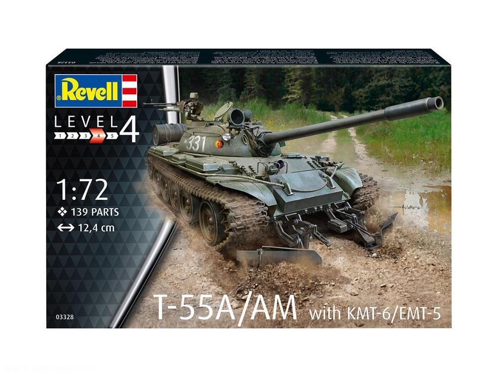 Revell maketa tanka T-55A-AM s KMT-6-EMT-5 03328