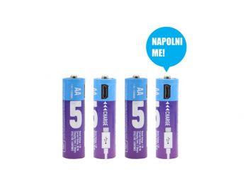 MicroUSB polnilne baterije AA