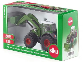 SIKU Traktor Fendt z nakladalko 1981