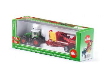 SIKU Traktor s pobiralcem krompirja 1808