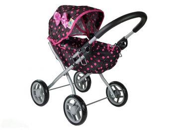 Igrača Otroški voziček Alice črno-pink