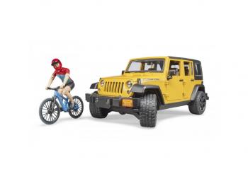Bruder Jeep Wrangler Rubicon s kolesarjem 02543