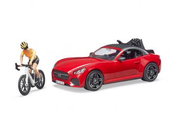 Bruder Roadster s kolesarjem 03485