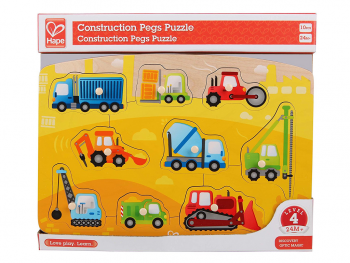 Hape puzzle delovna vozila