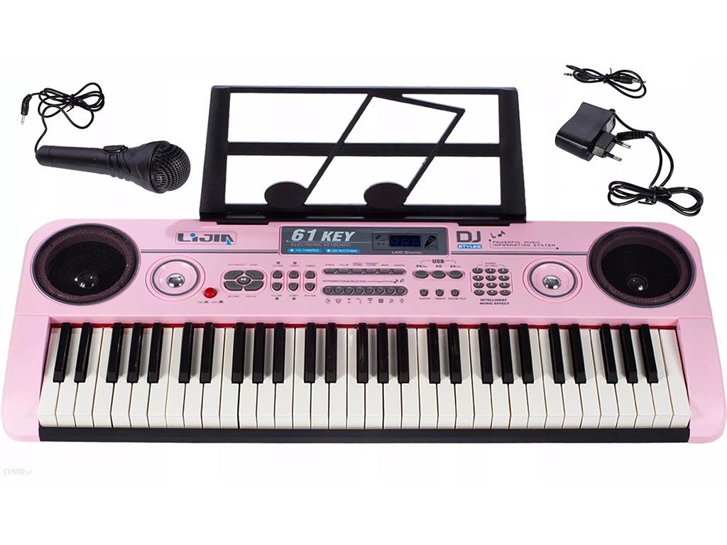 Otroški sintisajzer klavir z mikrofonom 80 cm