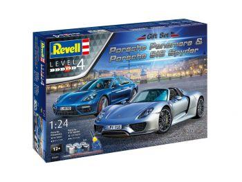Revell maketa avtomobila Porsche Set 05681