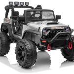 Avto na akumulator Jeep JC666 400W srebrn