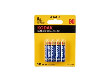 Baterije Kodak AAA x 4. 1.5 V