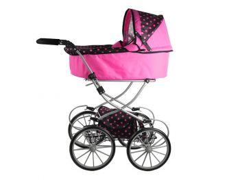 Igrača Otroški voziček Alice črno pink XL