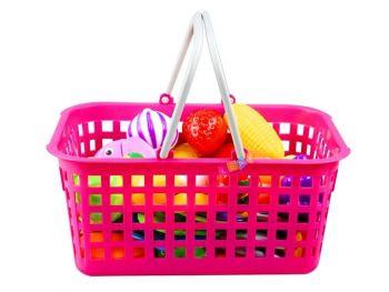 Otroška igrača košara z sadjem in zelenjavo za rezanje