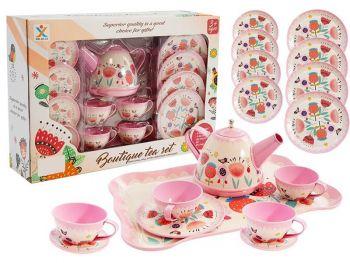 Otroški kuhinjski set kovinskih posodic za čaj 5820