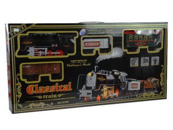 Otroški vlak z parno lokomotivo