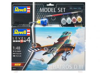 Revell maketa letala Albatros DIII model set 64973