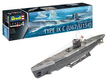 Revell maketa podmornice German Submarine Type IXC U67/U154