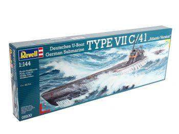 Revell maketa podmornice Submarine Type VII C/41 05100