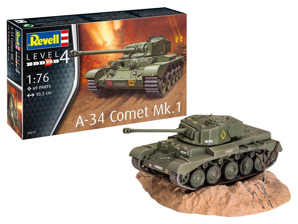Revell maketa tanka A-34 Comet Mk.1- 049 03317
