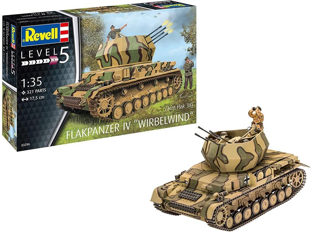 Revell maketa tanka Flakpanzer IV Wirbelwind 03296