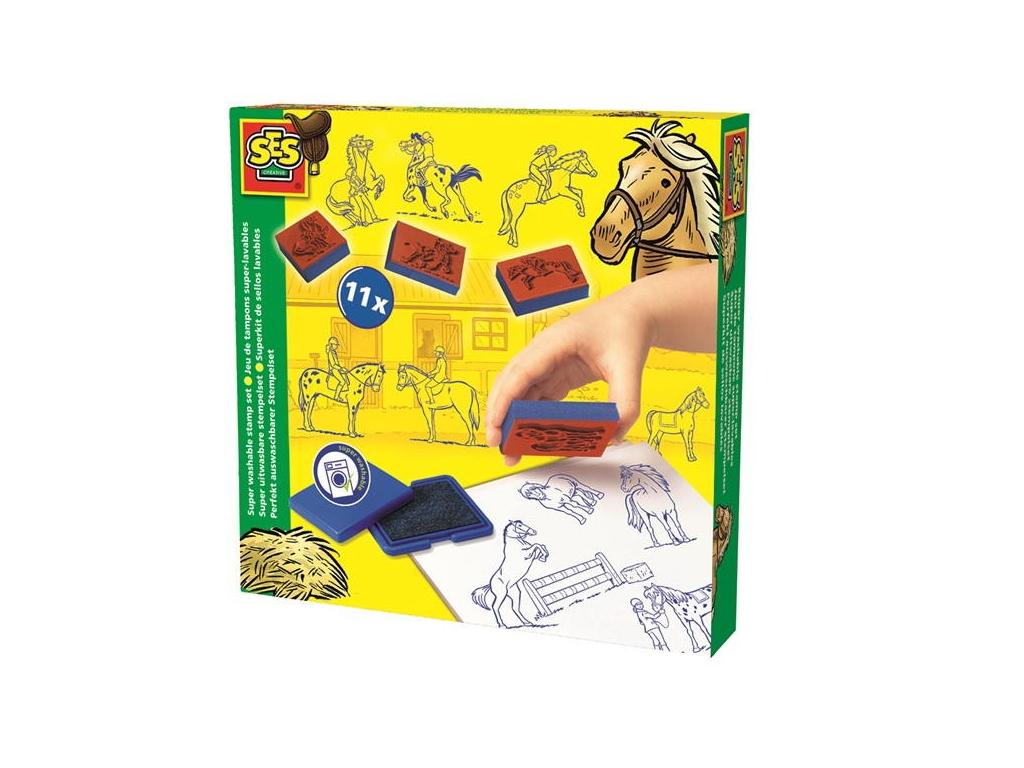 SES Set štampiljk - Konji štampiljke embalaža eigrače