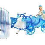 Igrača punčka s kočijo in konjem