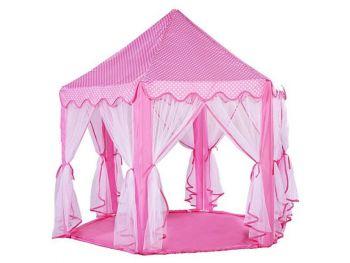 Otroški šotor pink z zavesami