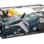 Revell Model set FžA - 18 Hornet Top Gun (easy click) eigrače