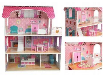Lesena otroška hišica za punčke Milena