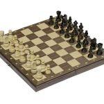 Leseni magnetni šah Goki
