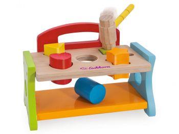 Otroška lesena igrača Udari s kladivom
