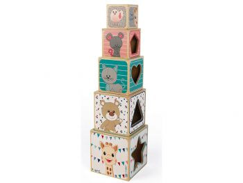 Janod piramida iz kock žirafa Sophie J09503