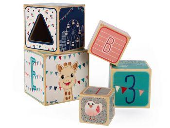 lesene kocke igrača piramida