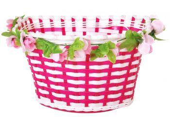 Košarica za kolo z rožami
