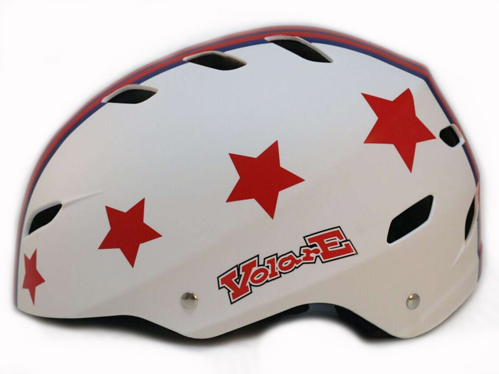 Otroška čelada Volare Stars Rdeča