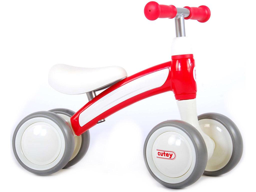 Otroški poganjalec na 4 kolesa Qplay Cutey Rdeč