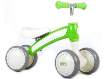 Otroški poganjalec na 4 kolesa Qplay Cutey zelen 1473