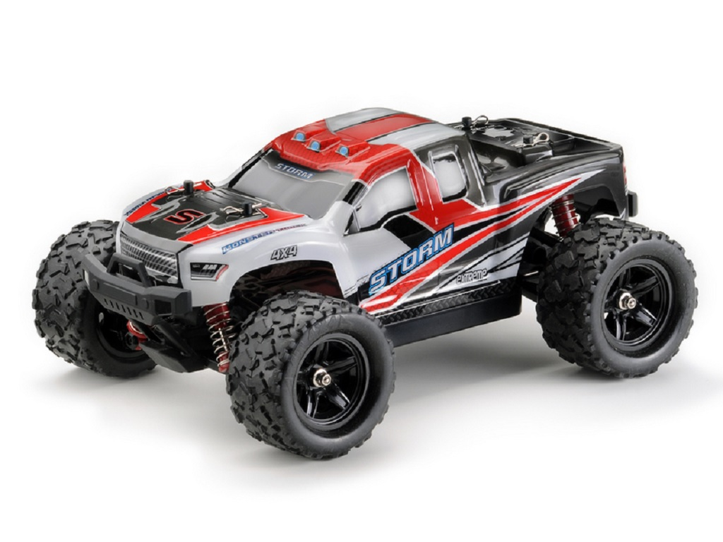 STORM Monster Truck M1:18 2.4GHz rdeč